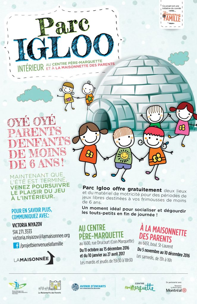 Enfants de moins de 6 ans parc int rieur igloo les for Interieur igloo